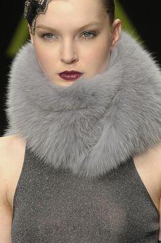 fur in shades of grey