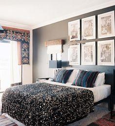 Um caloroso quarto de casal.