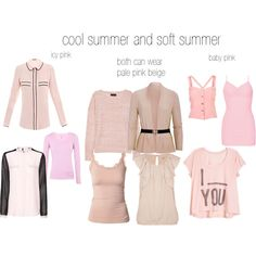 cool and soft summer pinks, created by expressingyourtruth on Polyvore