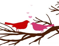 Love Birds - sweet for Valentines day or wedding