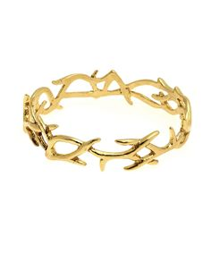 t h r e a db a r e — antler bangle gold