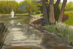 Go on location with http://artistsnetwork.tv and Liz Haywood-Sullivan to create a beautiful pastel landscape paintingen plein air.