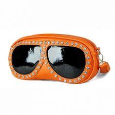 Candy Color Sunglasses Pattern Design Zipper Bag For Women