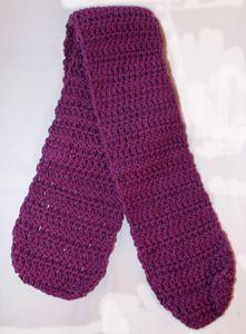 Purple, purple, purple! Cute handmade women's scarf by Robyn Latimer.