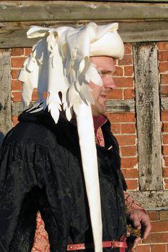 Custom order: Medieval wool dagged chaperon hat. £50.00, via Etsy.