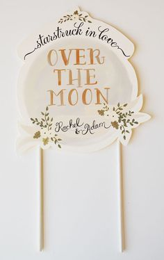 Hand painted wedding cake topper