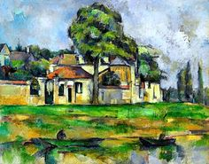 Paul Cezanne - The banks of the Marne art work, paul cezanne schilder, cezannemarnejpg 700586, 1839 cézann, paul cézann, bank