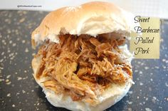 Sweet Barbecue Pulled Pork | Who Needs A Cape? #slowcooker #pulledpork #barbecue