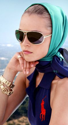 Great look with the headscarf.