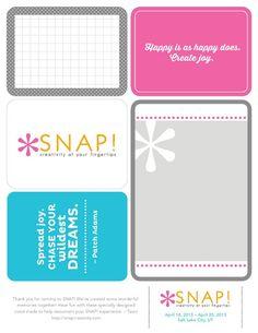 Free printable project life card set.