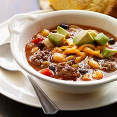Chipotle Black-Bean Slow-Cooker Chili  - Top with avocado and cheese!