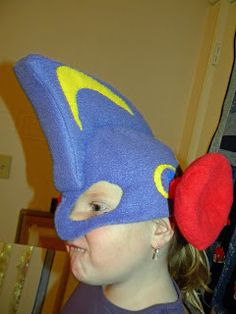 A real Larryboy helmet! out of fleece