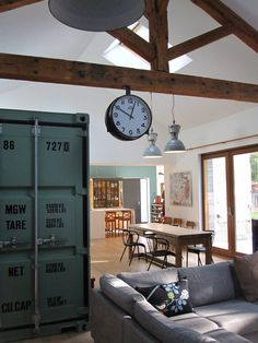Shipping container in the house