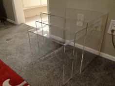 Lucite tables $85