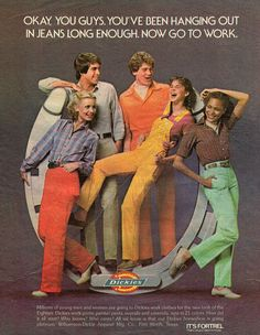 There's a Dickies Rainbow hue for everyone! #vintage #retro #1980s #fashion #nostalgia