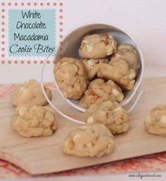I Dig Pinterest: White Chocolate Macadamia Cookie Bites