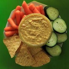 "Spicy Mustard Hummus ""Humstard"" HealthyAperture.com"