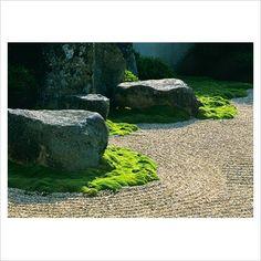 Kyoto - Gravel and Moss Courtyard - Philosopher's Walk