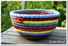 This is so cute.  I think I can make some of these fabric bowls