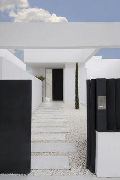 white, black and modern