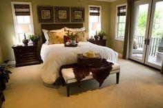 green brown bedroom