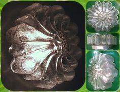 ¡¡Vendida!! Lámpara o plafón de cristal de los años 50 ó 60.