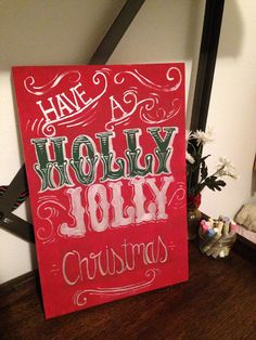 Christmas Wall Decor by Needlesspaints on Etsy
