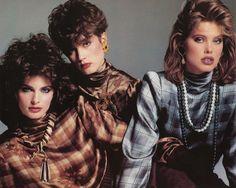 80s chic, vintag fashion, joan sever, supermodel, 1980s model, check blous, 1980s high