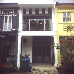 A smaller version of the Peranakan terrace converted into a beautiful residential. #CraneRoad