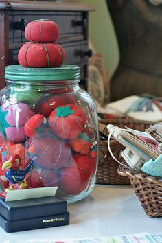Jar of tomatoes.