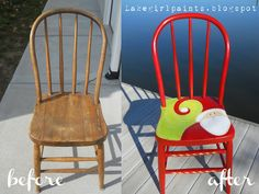 Lake Girl Paints: Whimsical Christmas Chairs - Excellent blog with tutorials!
