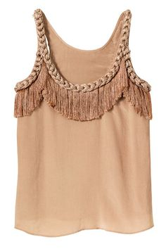 Love this Top! Fringe-detail silk tank top, Twelfth Street by Cynthia Vincent