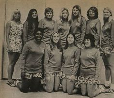 Photograph of the San Fernando Valley State College (now CSUN) women's volleyball team from the Daily Sundial, February 16, 1972 :: CSUN University Archives #gomatadors