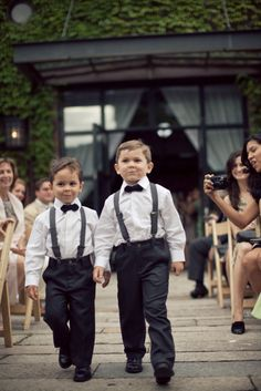 The perfect addition to any bridal party: mini gentlemen     Photography by isabelleselbyphotography.com