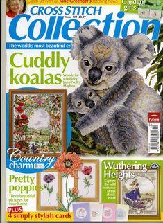 Cross Stitch Collection 149 2007 Cuddly Koalas; poppies, garden sampler (nice), critters rural charm, cups, tea pots, vges, herbs