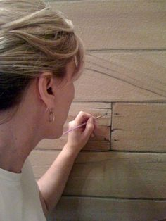 Faux Painting Wood Plank Walls
