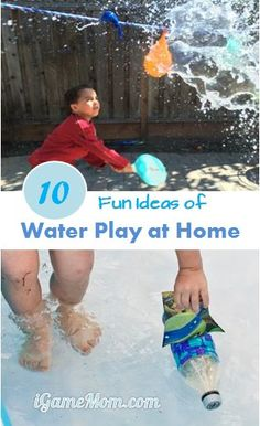 10 fun kids activities for water play at home #LearnActivities