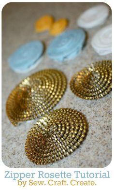 Zipper Rosette Tutorial from Sew Craft Create