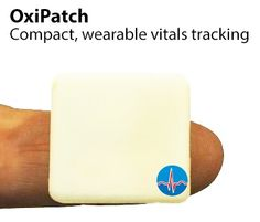 OxiPatch - continuous monitoring of vital signs, including heart rate, heart rate variability (HRV),blood oxygen saturation, respiratory rate, physical activity. From Oxirate.