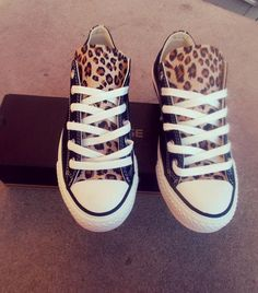 Leopard Converse Shoes on Etsy, $85.00