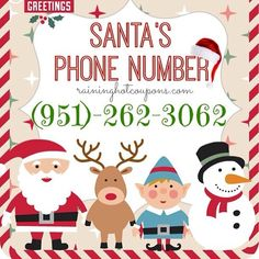 Call santa and give your list