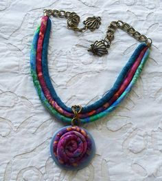 Designer  handmade fabric covered necklace cords by OhSoFabu, $27.00