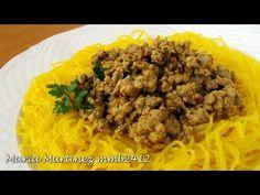 Recetas Dukan Ataque: Fideos Shirataki con Salsa de Carne / Dukan Shirataki Miracle Noodles Recipe