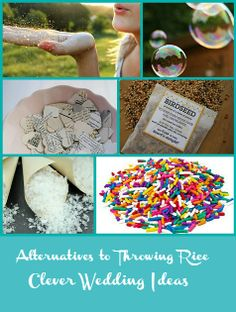 Alternatives to throwing rice