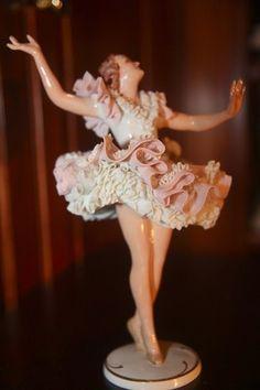 Beautiful Dresden German Sandizell RARE Find Lace Detail Stunning Great Piece | eBay