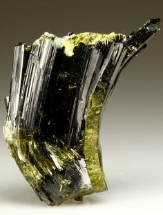 + EPIDOTE with BYSSOLITE and ADULARIA