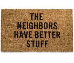 Neighbors Doormat