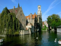 Bruges, Belgium. I stayed at the hotel in this picture!