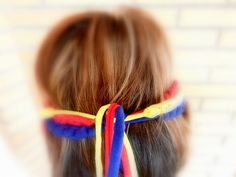 Handmade crocheted Colombia soccer headbands for women for the World Cup 2014. More designs and colors available in my Etsy shop, with world cup bracelets, necklaces and headbands by COLOROGY #Colombia #WorldCup