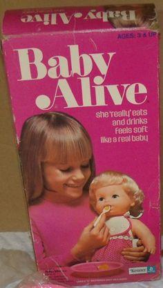 KENNER: 1975 Baby Alive Doll #Vintage #Toys